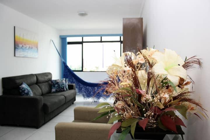 Apartamento de 2 quartos para até 6 pessoas.