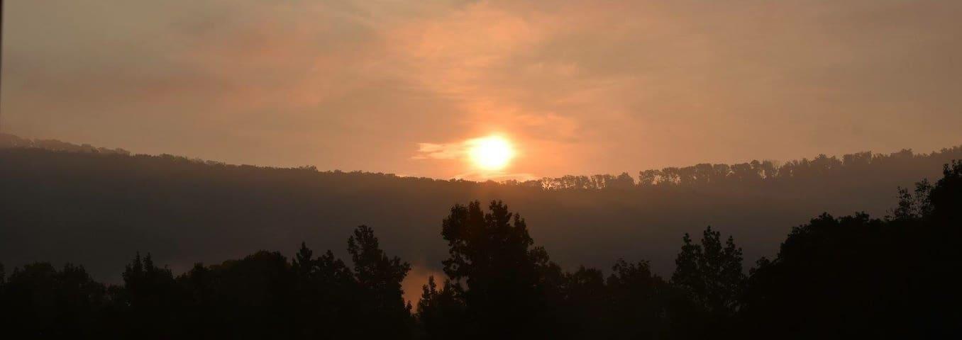 Sunset on the Pharm.