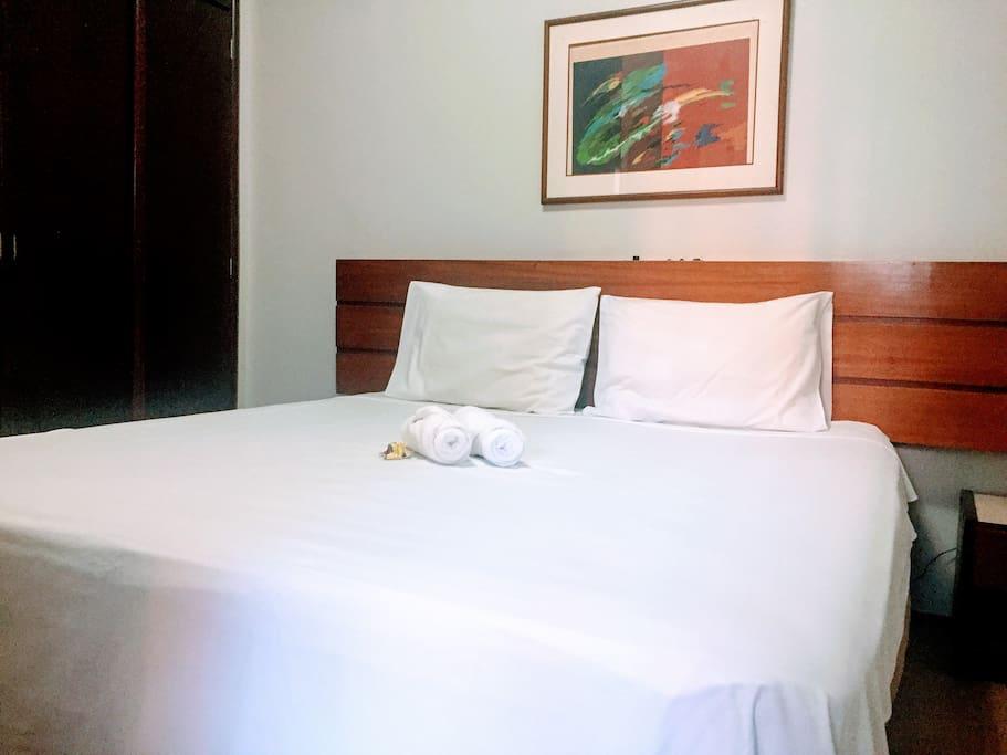 Suite com cama de casal ou duas camas de solteiro