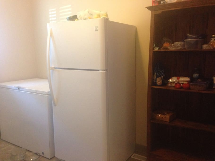 XL guest fridge/freezer available for your use