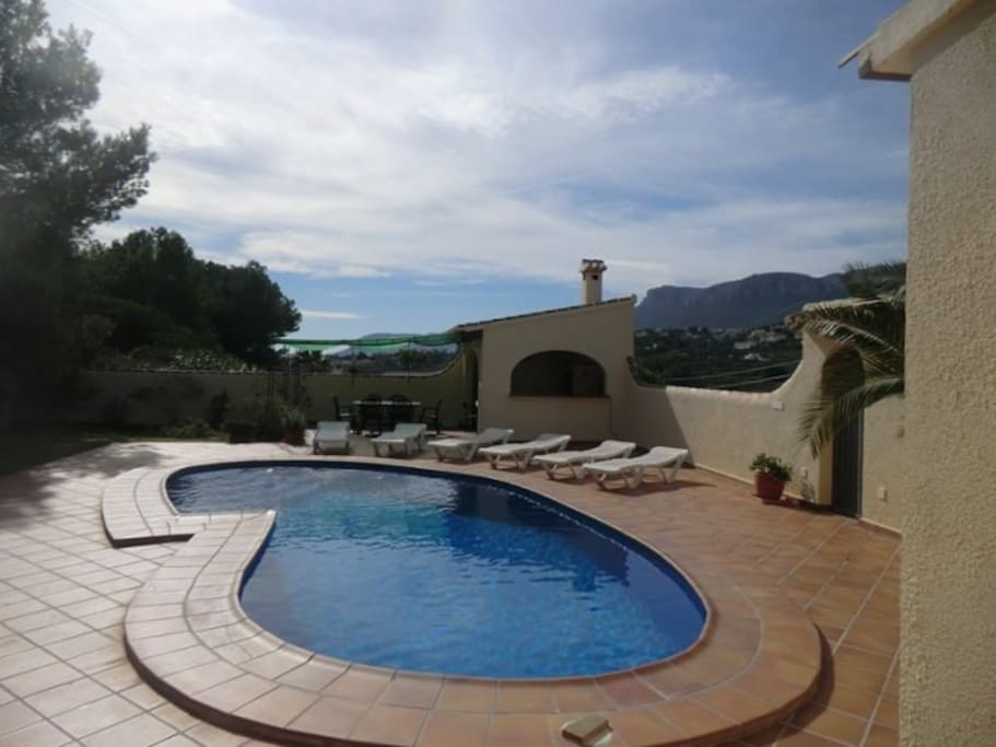 Fabulous pool and lounging area - (not overlooked!!)
