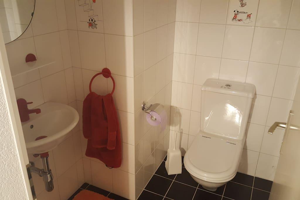 Toilette mit Waschtisch