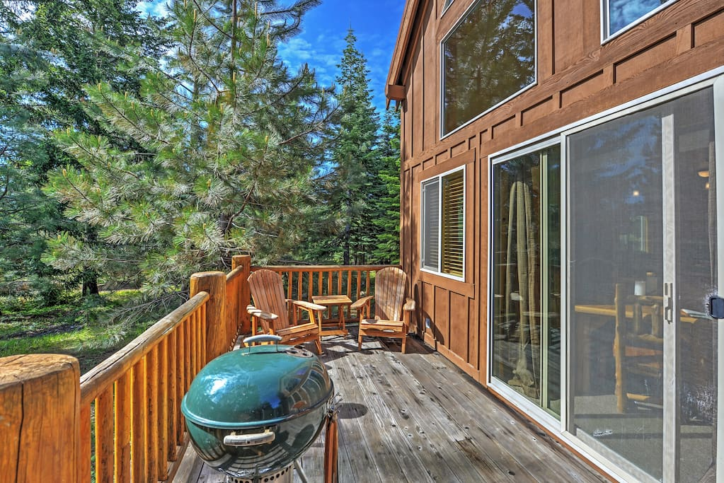 Lounge on the private patio and admire sensational mountain views.