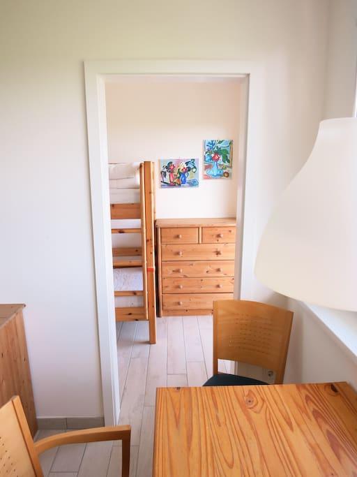 Apartment 5 Wohnzimmer + Schlafzimmer