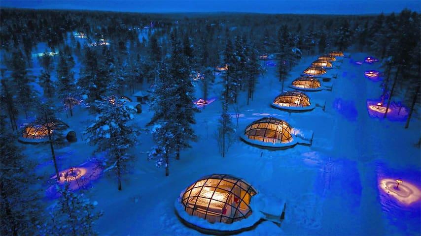 Kakslauttanen Glass Igloos, Lapland, Finland