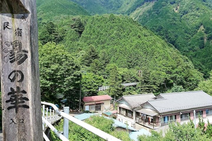 【猫と温泉】湯の華 Hot-spring lodge near Abe-no-Otaki