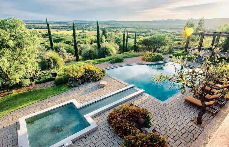 Designer Luxury Hacienda with Pool, Views & Staff