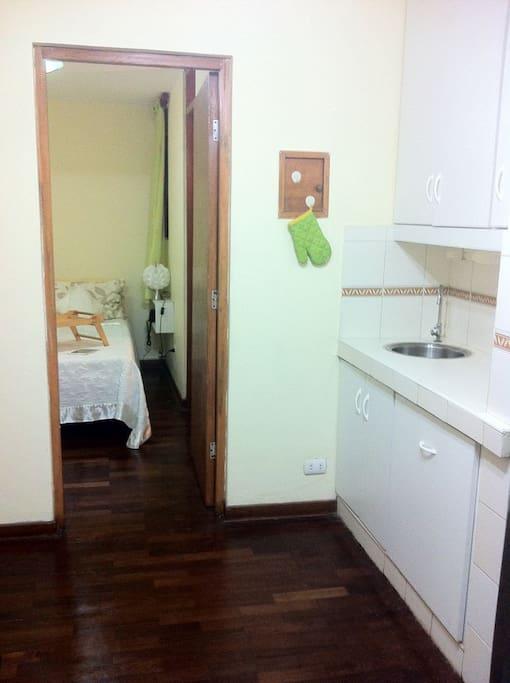 Sala y comedor, dos ambientes