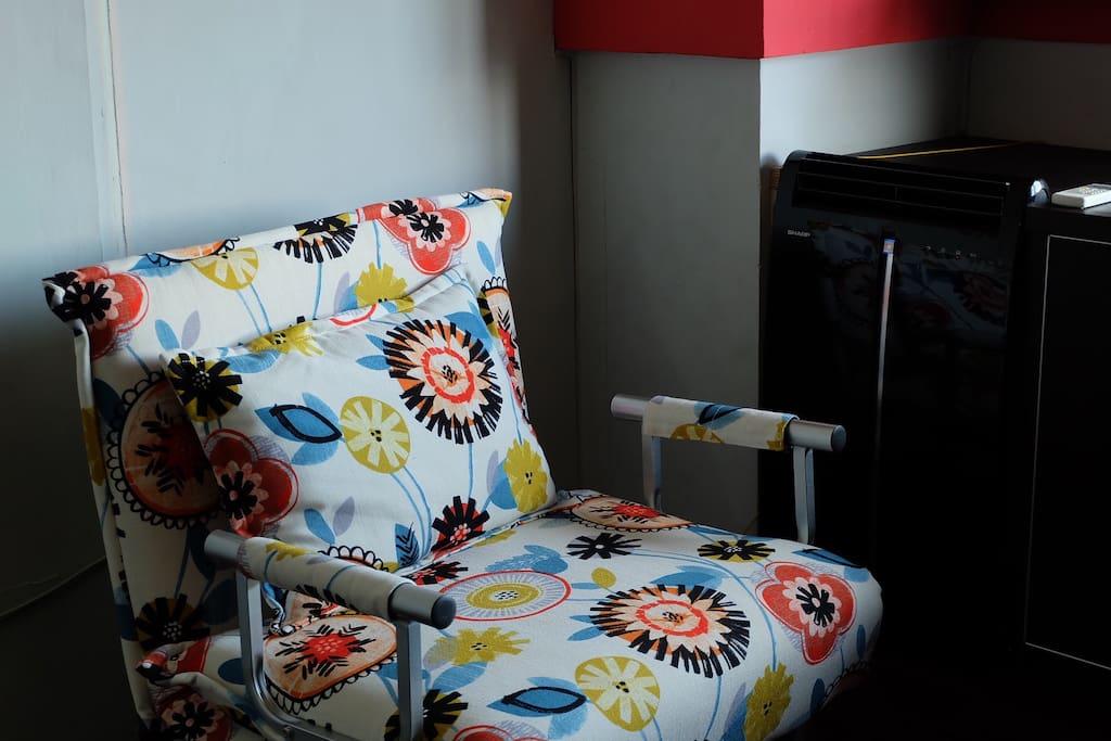 Air-conditonated room.