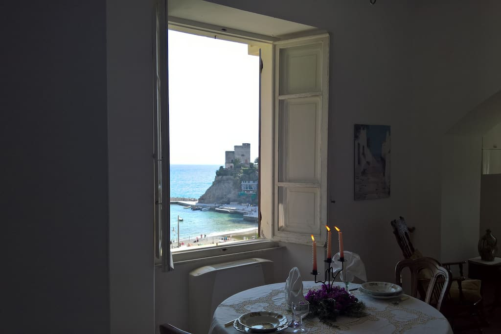 MONTEROSSO BAY FROM LIVING WINDOW