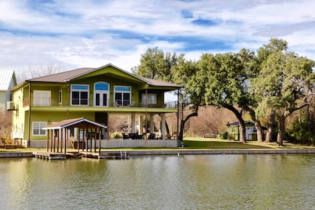 Cove on Lake LBJ, Views from Huge Covered Patios - Kingsland