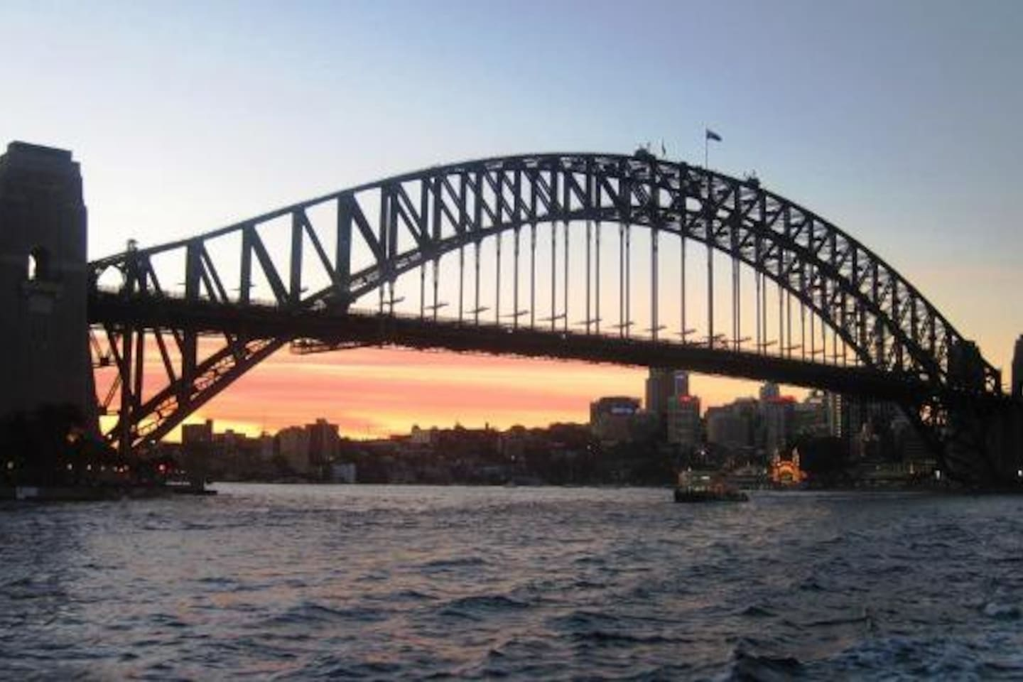 Sydney Harbour Bridge. One of Sydney's famous tourist spots.