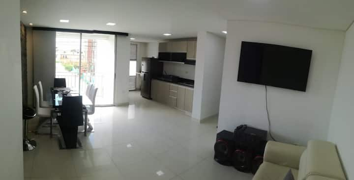 Hermoso apartamento nuevo Niza ,100MPB,seguridad P
