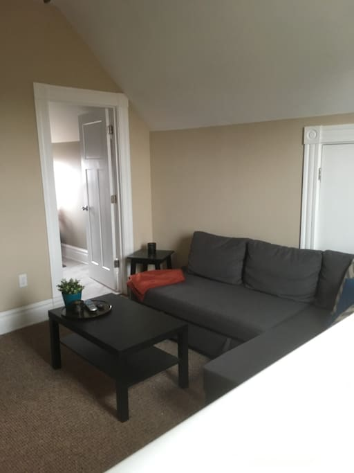 Livingroom | Couch pulls out to a full size bed