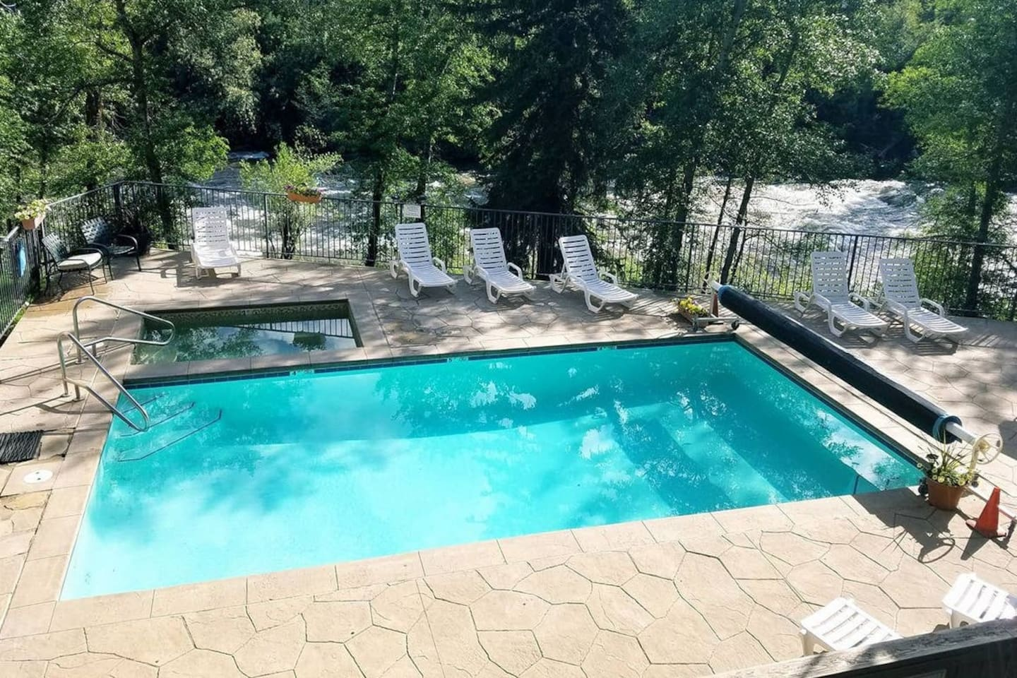 Onsite Pool (Summer Only) and Hot Tub (Year Round)