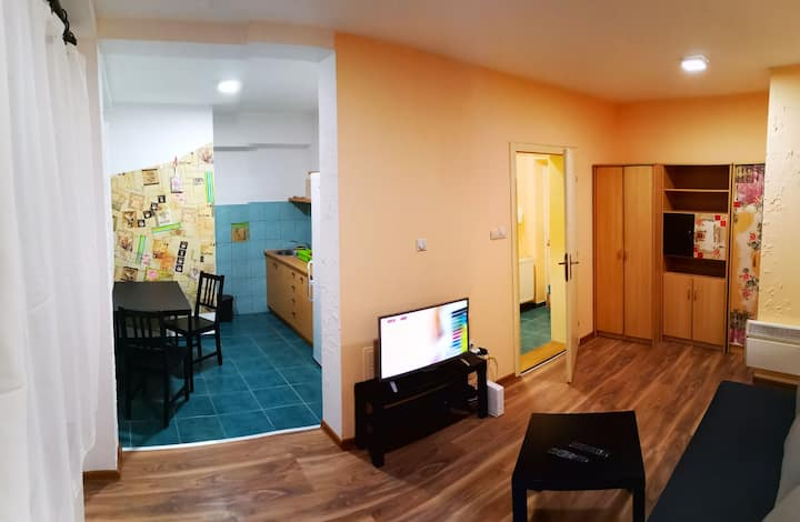 Cosy,quiet,new,clean,WiFi,cable tv, town center.