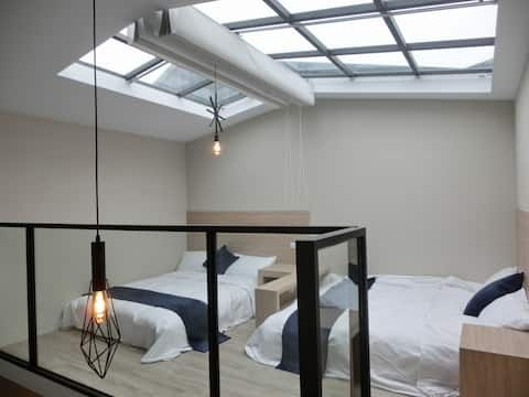 Zengin Cafe - 星空浴缸四人房 (2 Double Beds)