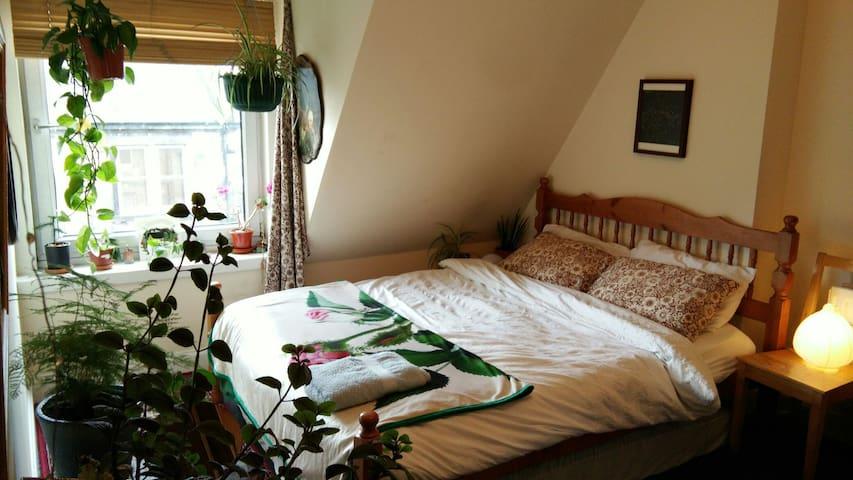 Double room in beautiful Edinburgh flat near Shore