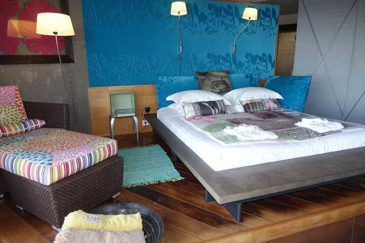 Luxury Suite including a terrace and have an exceptional view of the lagoon