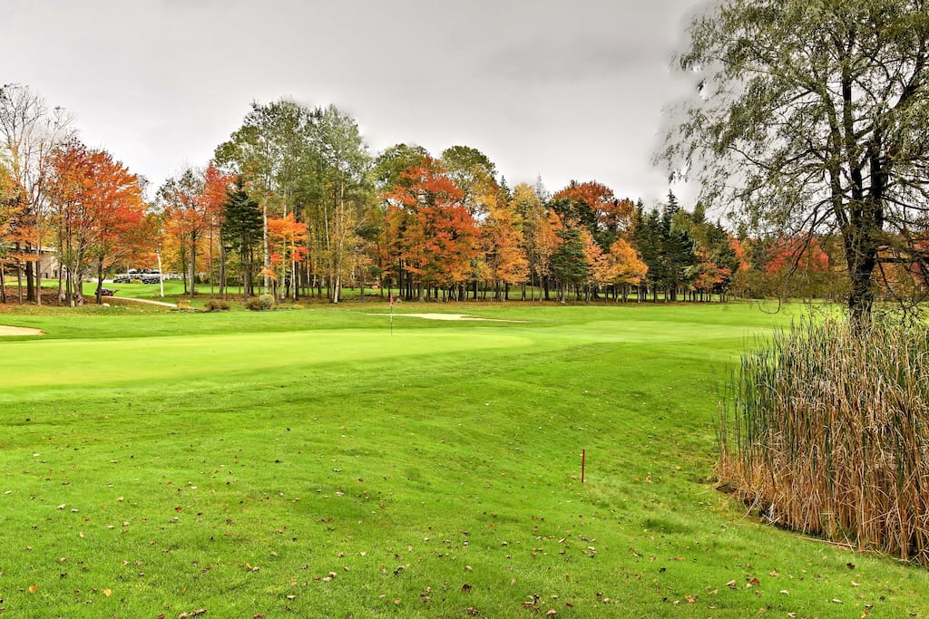 Spend the summer days walking 18-holes of golf on the property.