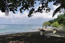 Our private beach area