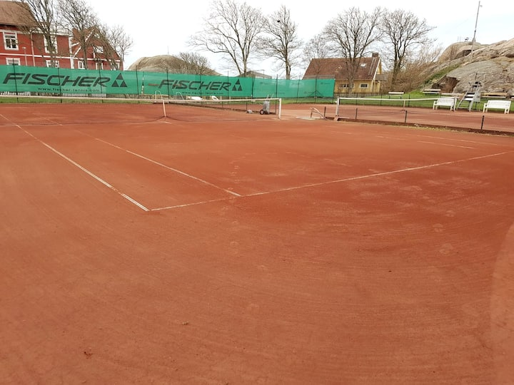 The outdoor courts