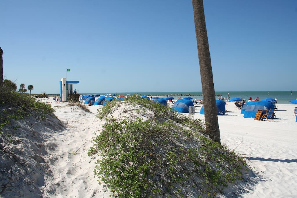 Beautiful Clearwater Beach just a 5 minute walk from the townhome