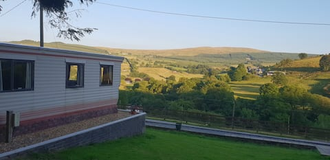 Static Caravan with Scenic Views of Penmachno