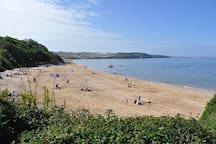 Beautiful St. David's Bay and Benllech beach on Anglesey