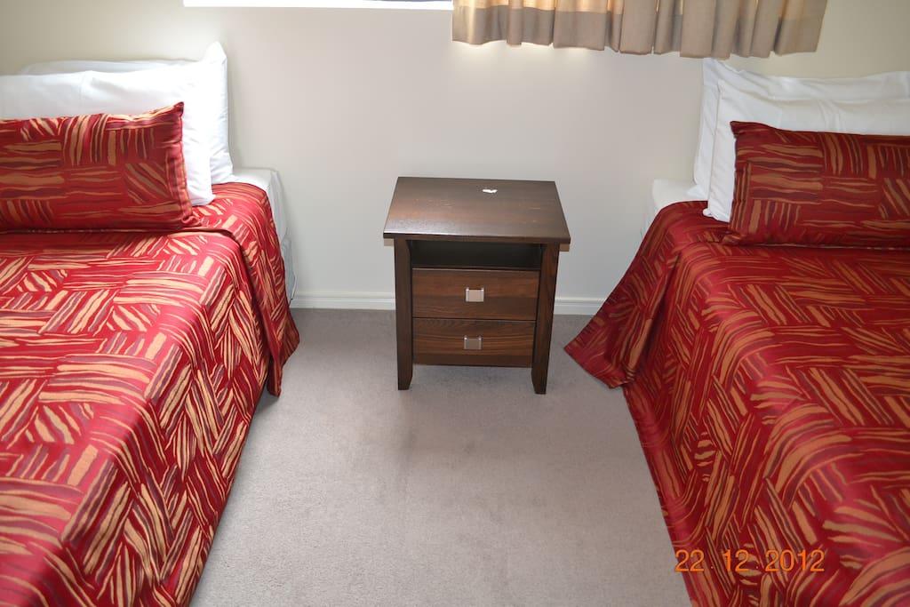 2 Single beds in second bedroom
