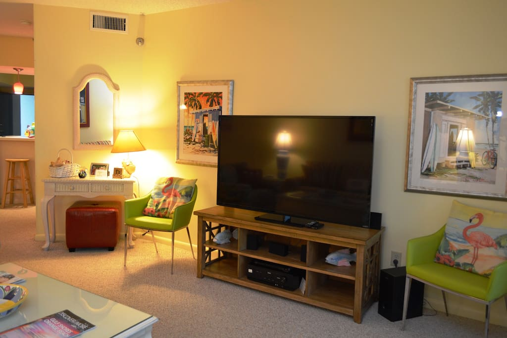 60 inch LED/LCD TV with Blu-ray player & 5.1 surround sound system w/Bluetooth!