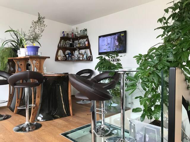 Moderne Wohnung mit 100m2  Und Dachterasse