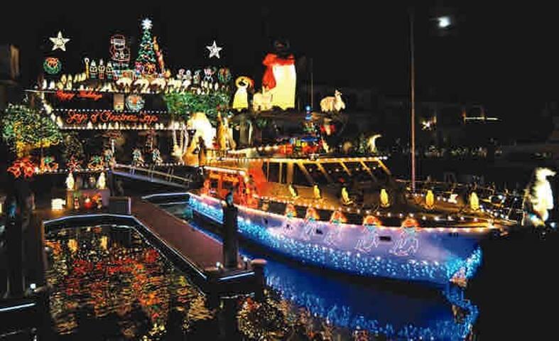 Dana point Christmas boat parade