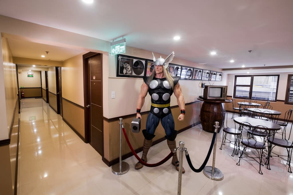 "2nd Floor Lobby Area with Life size ""Avanger Marvel"" Thor"