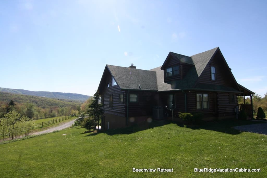 Beechview Lodge has an open view of the mountains on all sides.