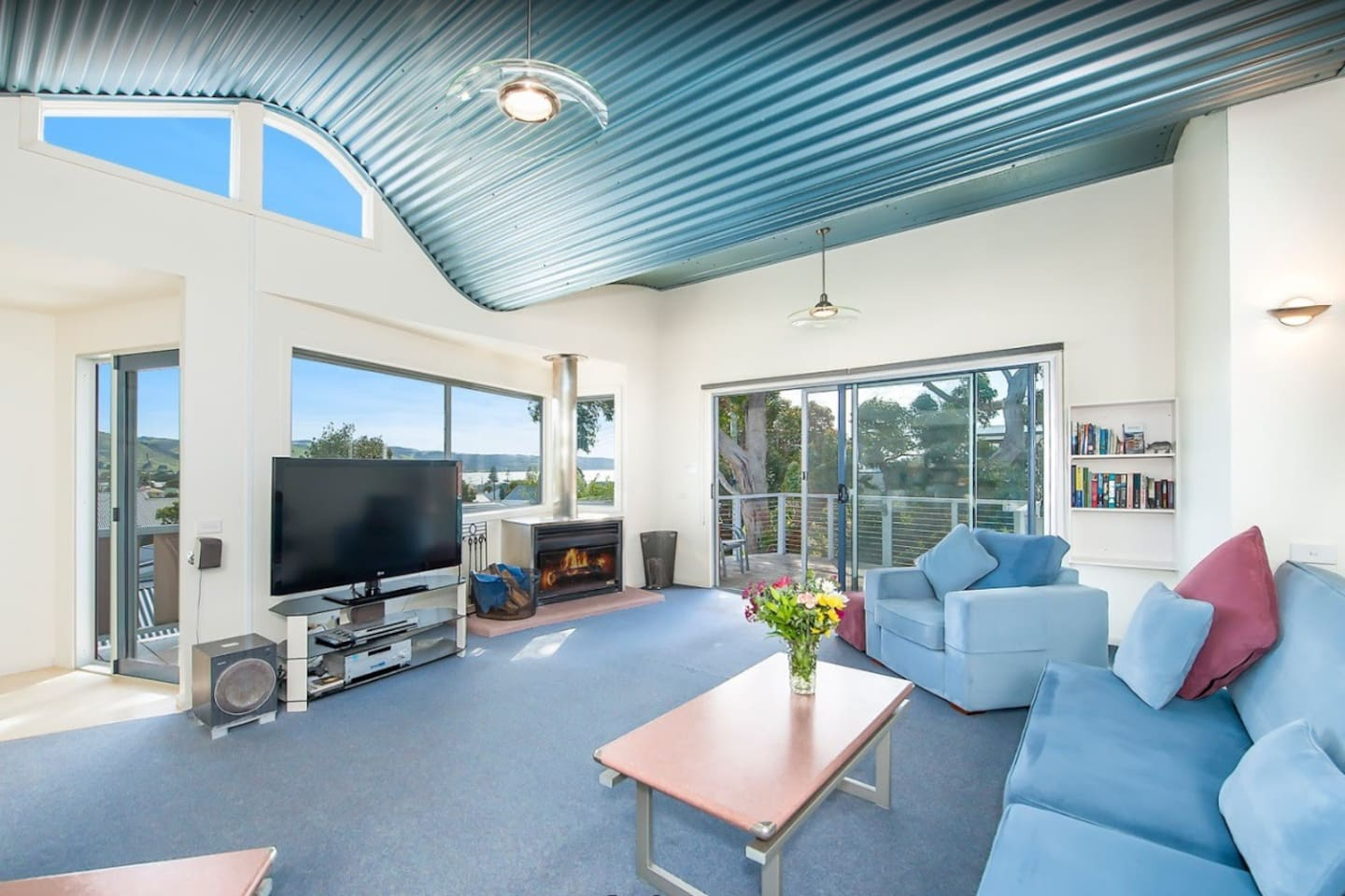 Views to Apollo Bay from the upstairs living area