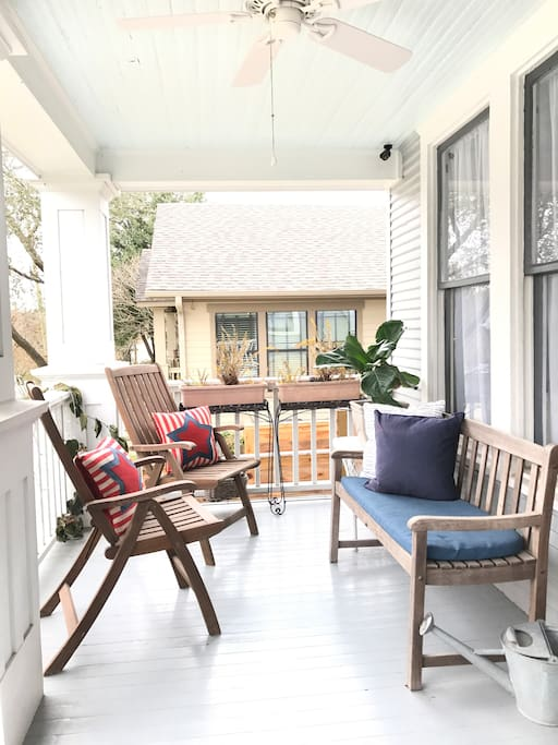 Front Porch - the perfect place for your morning coffee