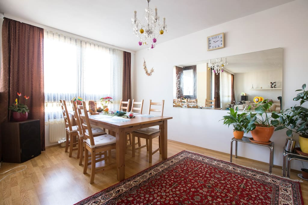 Wohnzimmer, Living room, Гостиная, sharing area for eating
