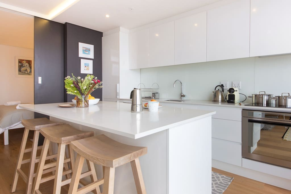 User friendly, modern Kitchen with built in appliances. Everything you could possibly need.