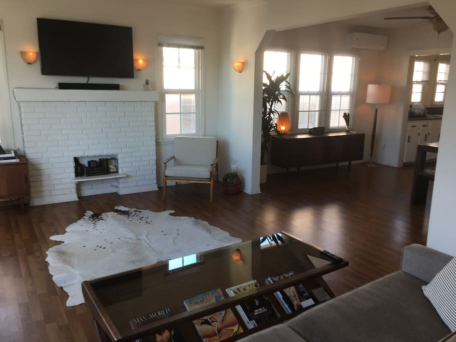 LIVING ROOM with opening to open dining room