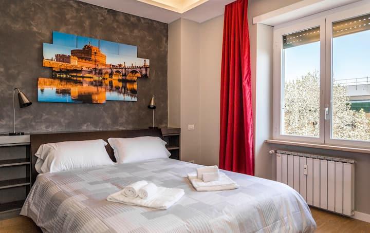 Top Floor Trastevere double room