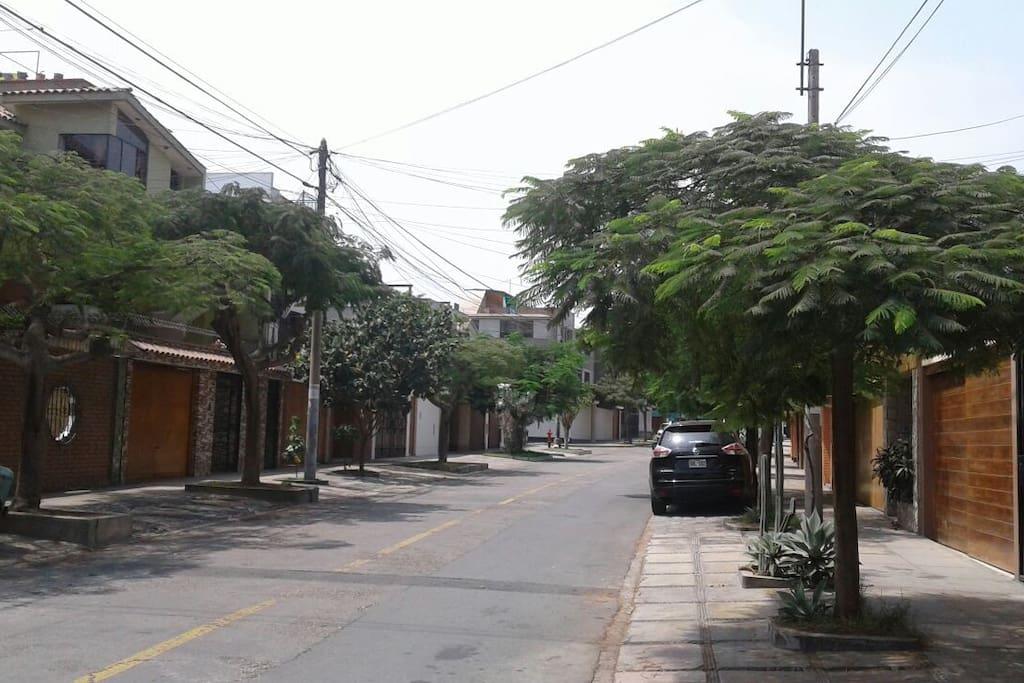 La tranquilidad de su calle
