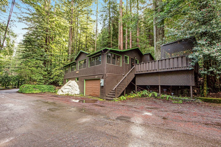 Iconic 1920s Home in the Redwoods w/ Gorgeous Deck & Fireplace, Close to Town