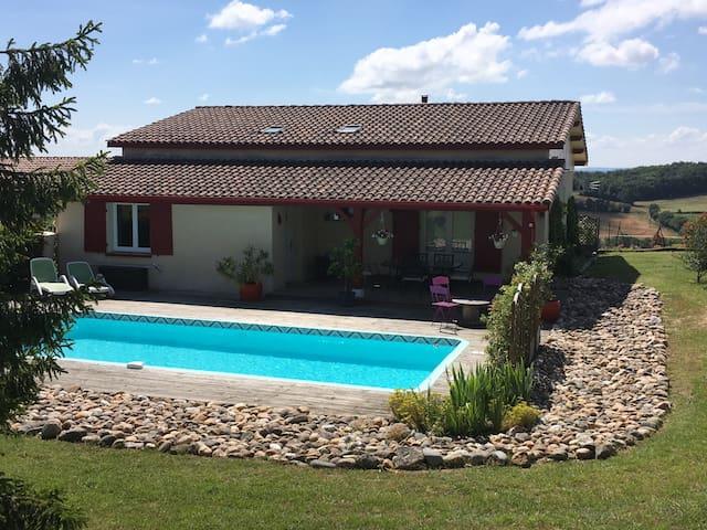 Maison de campagne avec piscine - Monflanquin - House