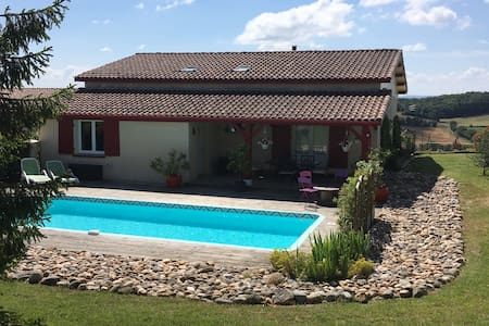Maison de campagne avec piscine - Monflanquin