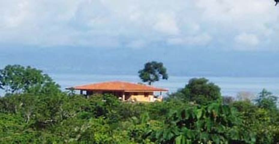 Panoramic view of the house overlooking the gulf
