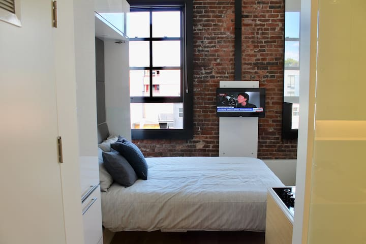 Cozy new microloft in the heart of downtown