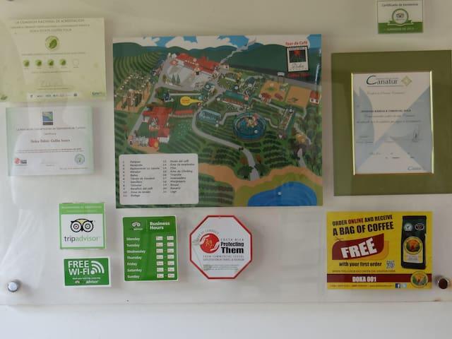 Map of Doka Estate Coffee Tour