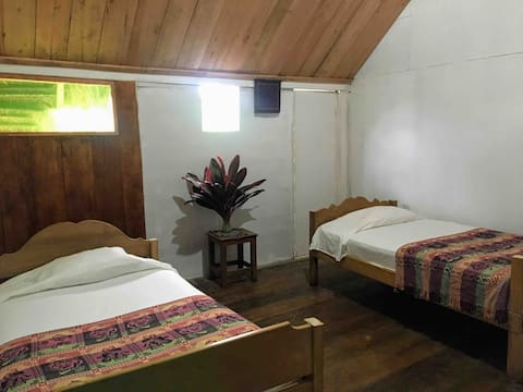 Classic double room in beautiful Selva Vida Lodge