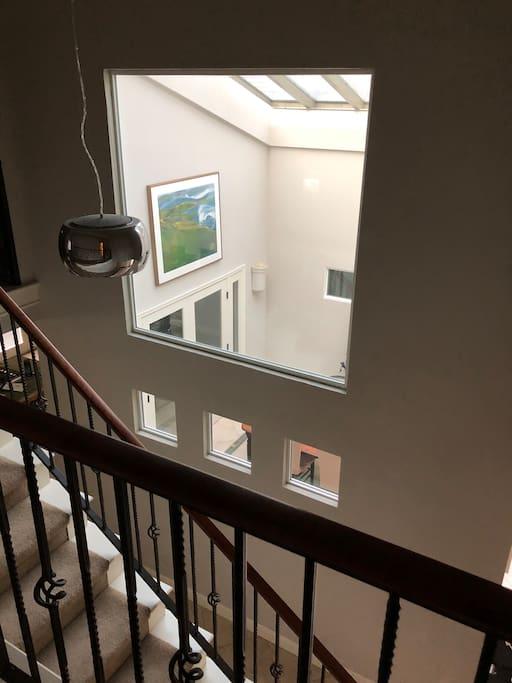 Beautiful skylight upstairs.